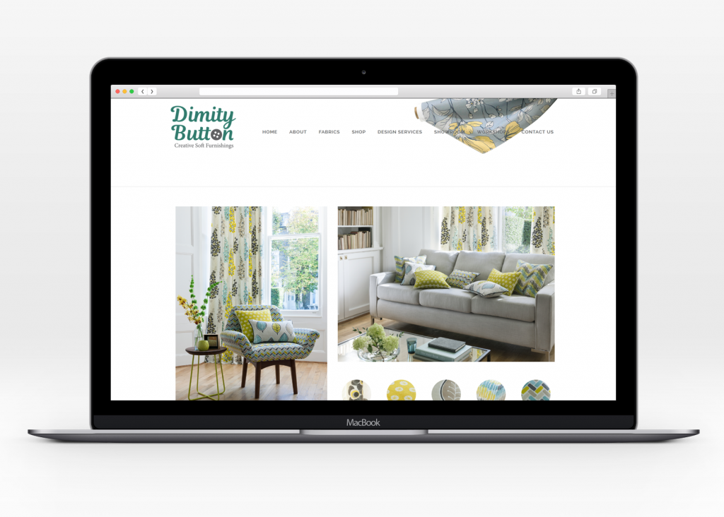 Ecommerce shopping for Dimity Button creative soft furnishings