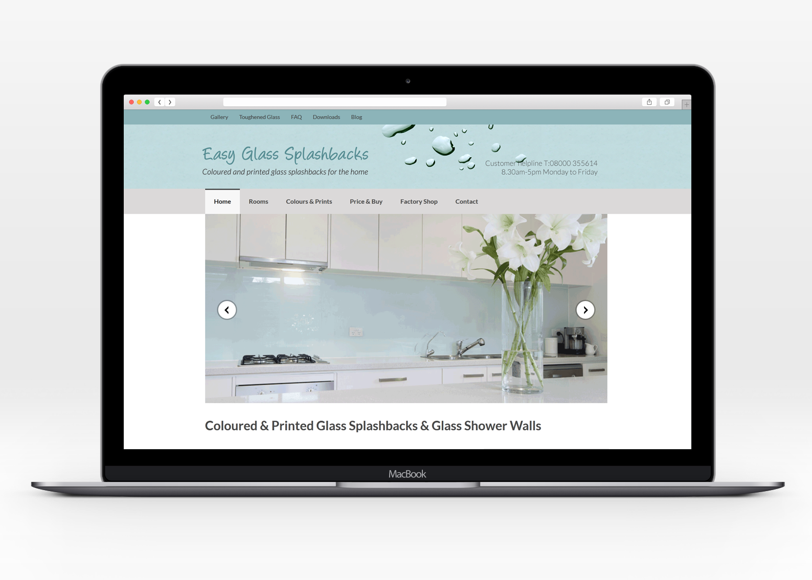 Ecommerce shopping for Easy Glass Splashbacks